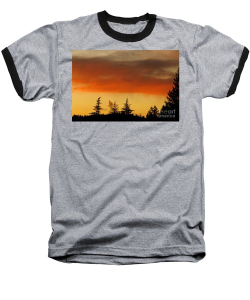 Baseball T-Shirt featuring the photograph A Distant Rain by CML Brown