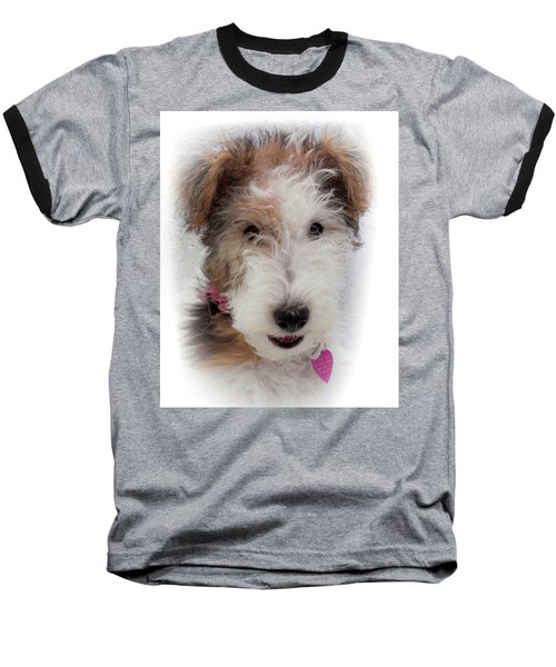 Baseball T-Shirt featuring the photograph A Dog Named Butterfly by Karen Wiles