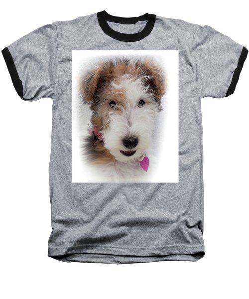 A Dog Named Butterfly Baseball T-Shirt by Karen Wiles