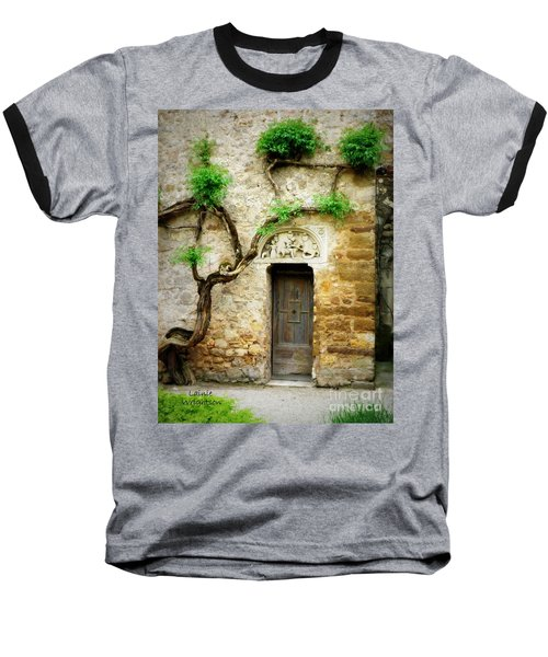 A Door In The Cloister Baseball T-Shirt by Lainie Wrightson