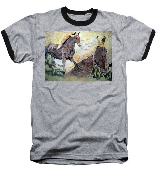 Baseball T-Shirt featuring the drawing A Dream by Melita Safran