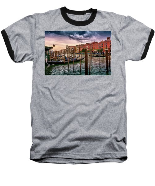 Surreal Seascape On The Grand Canal In Venice, Italy Baseball T-Shirt