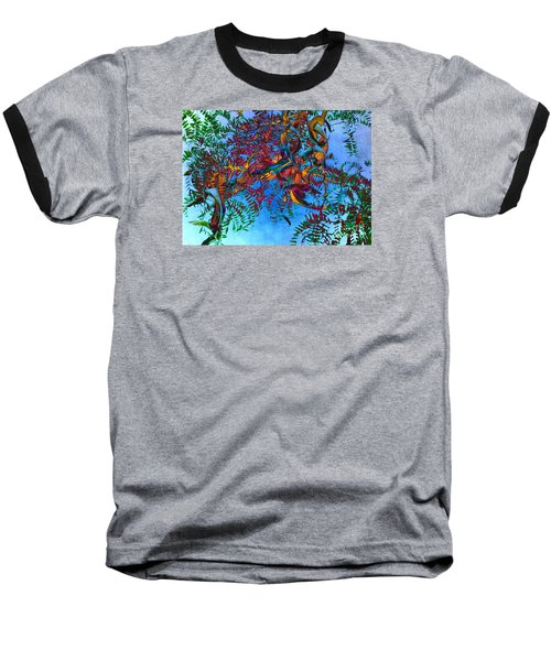 A Fabric Of Illusion Baseball T-Shirt by Roselynne Broussard