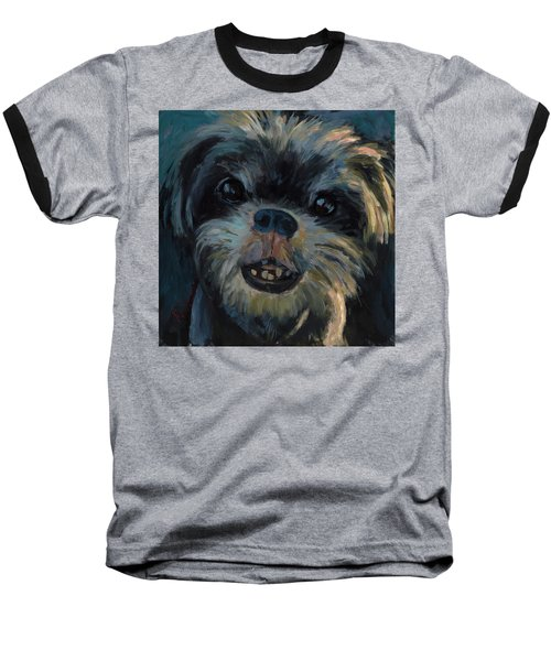 Baseball T-Shirt featuring the painting A Face Only A Mother Could Love by Billie Colson