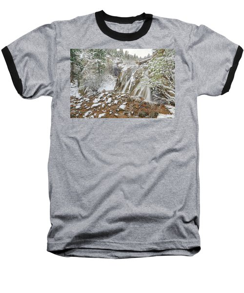 A Factitious Bridge In A Natural Environment  Baseball T-Shirt by Bijan Pirnia