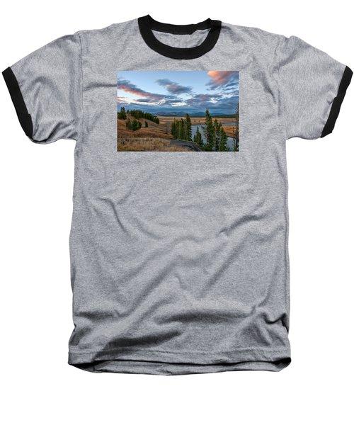 A Fall Evening In Hayden Valley Baseball T-Shirt by Steve Stuller
