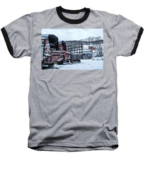A Farmers Winter Baseball T-Shirt