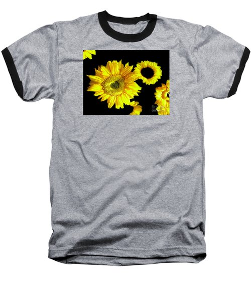 Baseball T-Shirt featuring the photograph A Few Sunflowers by Merton Allen