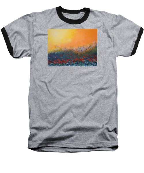 Baseball T-Shirt featuring the painting A Field In Bloom by Dan Whittemore