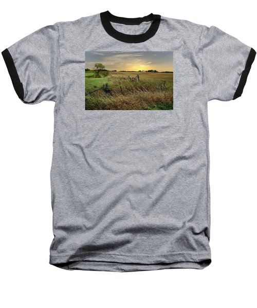 Baseball T-Shirt featuring the photograph A Field Of Gold by Judy  Johnson
