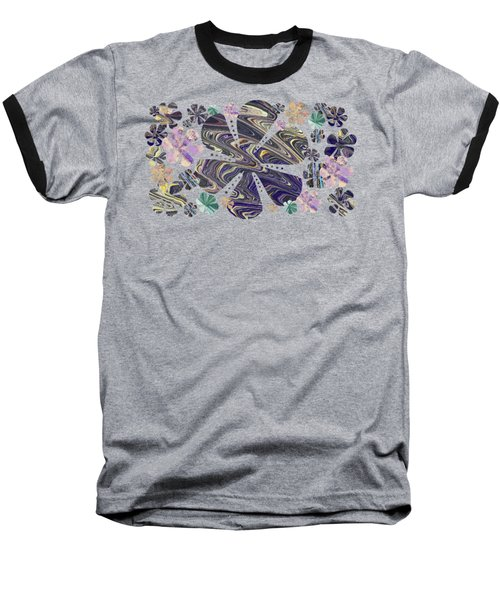 A Field Of Whimsical Flowers Baseball T-Shirt