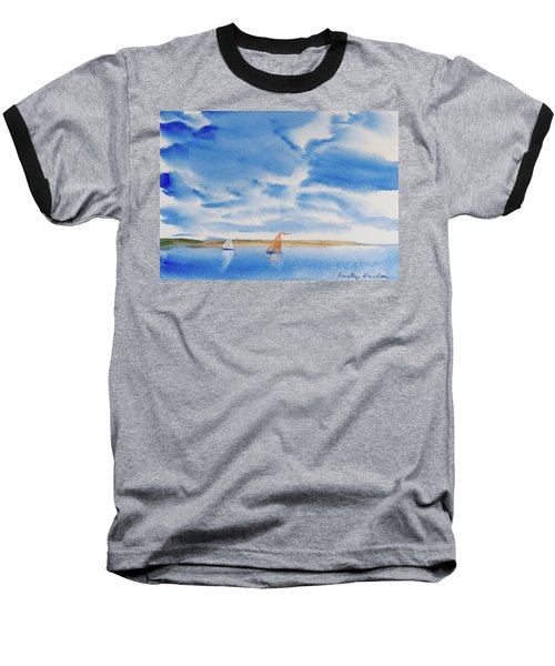 A Fine Sailing Breeze On The River Derwent Baseball T-Shirt