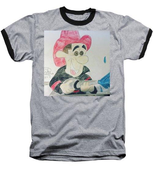 A Fireman Baseball T-Shirt