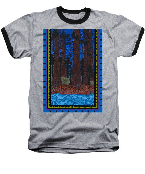 Baseball T-Shirt featuring the painting A Forest Whispers by Chholing Taha