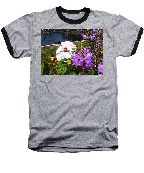 A Flower Blossoms Baseball T-Shirt by B Wayne Mullins