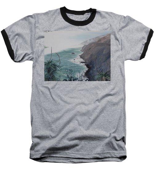 A Fog Creeps In Baseball T-Shirt by Barbara Barber