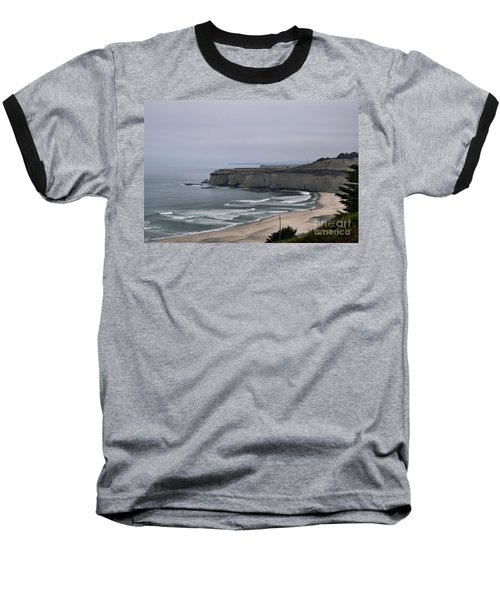 A Foggy Day On Hwy 1 Baseball T-Shirt