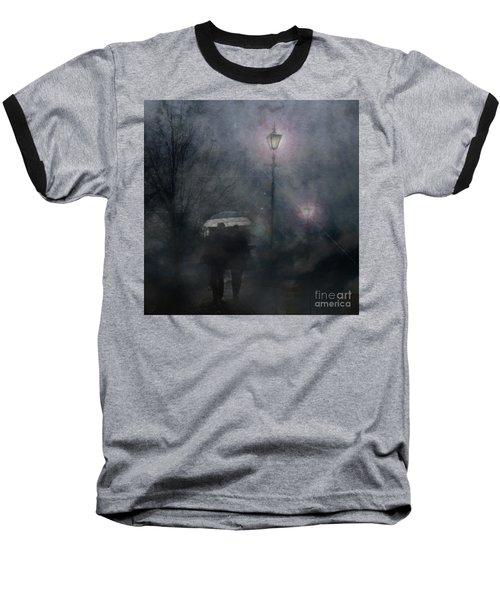 Baseball T-Shirt featuring the photograph A Foggy Night Romance by LemonArt Photography