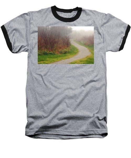 A Foggy Path Baseball T-Shirt