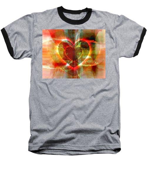 A Forgiving Heart Baseball T-Shirt by Fania Simon