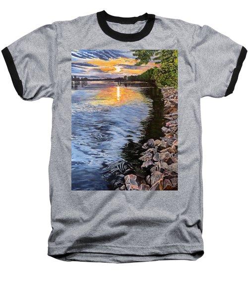 A Fraser River Sunset Baseball T-Shirt