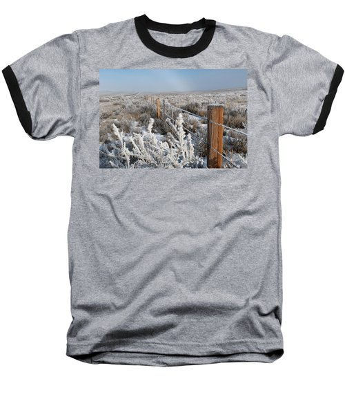 A Frosty And Foggy Morning On The Way To Steamboat Springs Baseball T-Shirt
