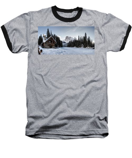 A Frozen Emerald Lake Morning Baseball T-Shirt
