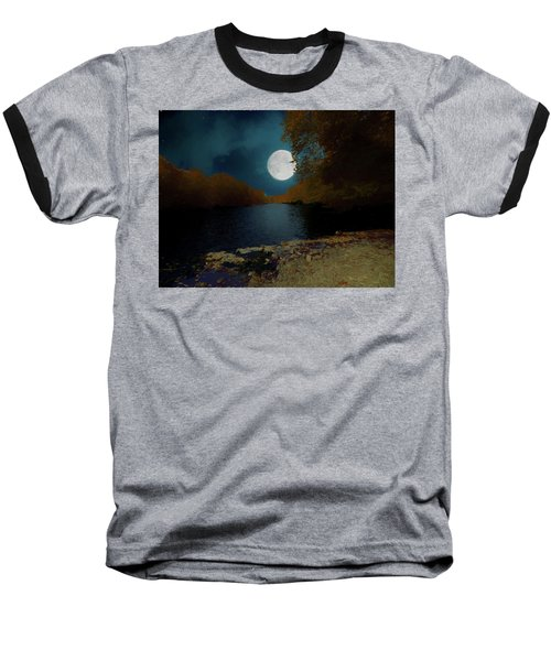 A Full Moon On A River. Baseball T-Shirt