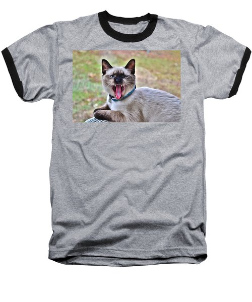 A Full Yawn Baseball T-Shirt