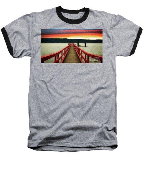 A Gentle Evening Baseball T-Shirt by Rod Jellison