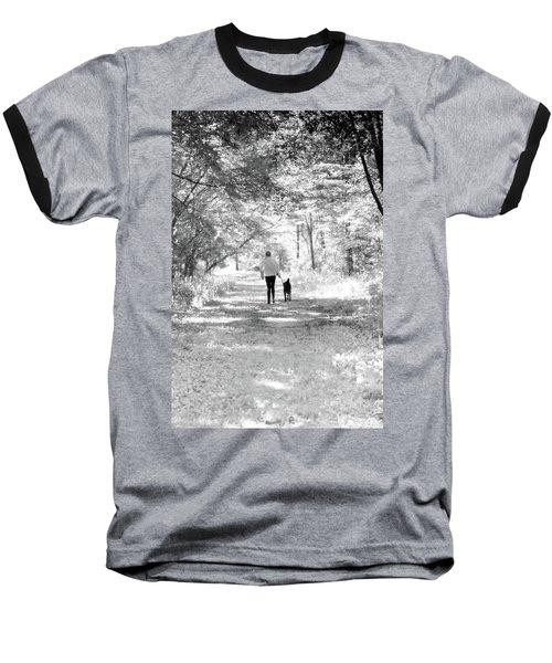 A Girl And Her Dog Baseball T-Shirt