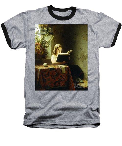 A Girl Reading Baseball T-Shirt