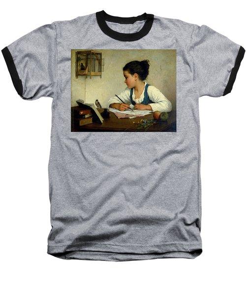 A Girl Writing. The Pet Goldfinch Baseball T-Shirt