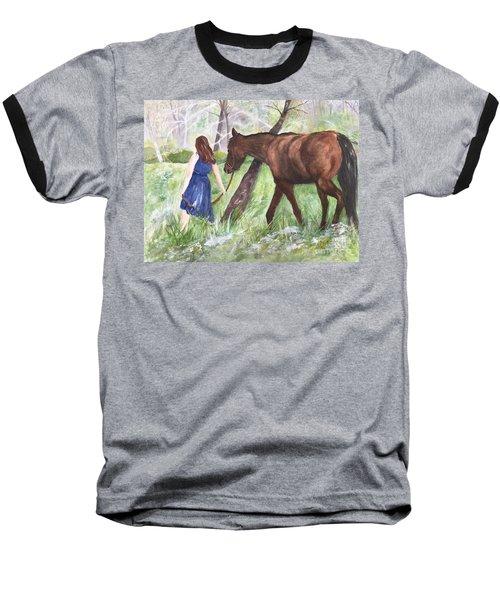 A Girl's Best Friend Baseball T-Shirt
