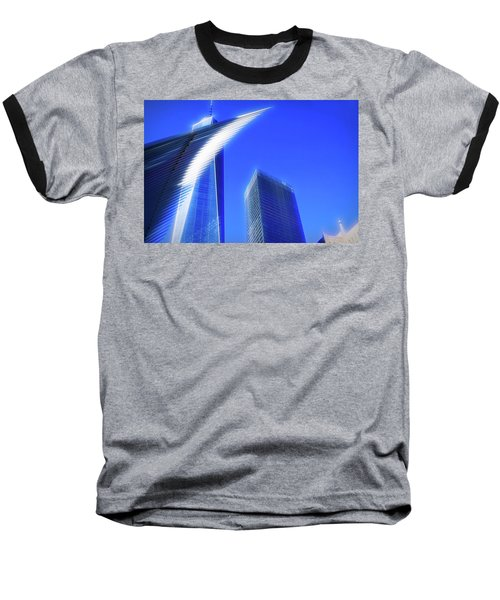 A Glimpse Of The Oculus - New York's Financial District Baseball T-Shirt