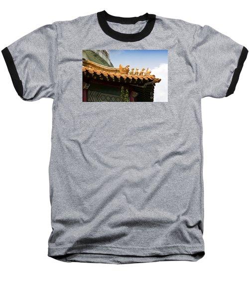 Baseball T-Shirt featuring the photograph A Golden Parade by Rebecca Davis
