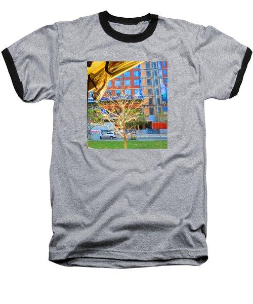 A Golden Tree View From Duck Tour Bus Window Baseball T-Shirt