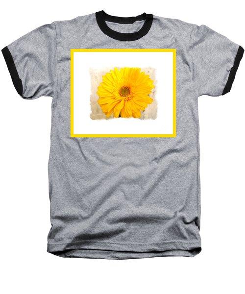 A Grand Yellow Gerber Baseball T-Shirt by Marsha Heiken