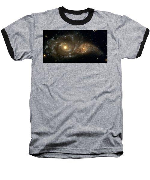 A Grazing Encounter Between Two Spiral Galaxies Baseball T-Shirt