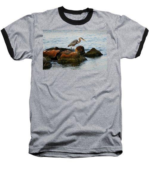 A Great Blue Heron Day Baseball T-Shirt