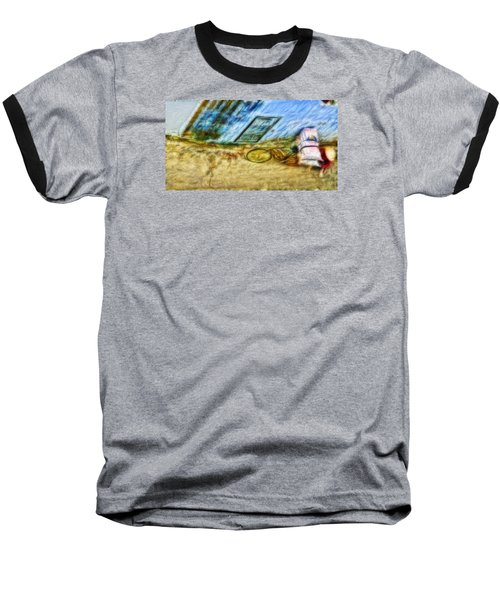 Baseball T-Shirt featuring the photograph A Hard Day by Cameron Wood