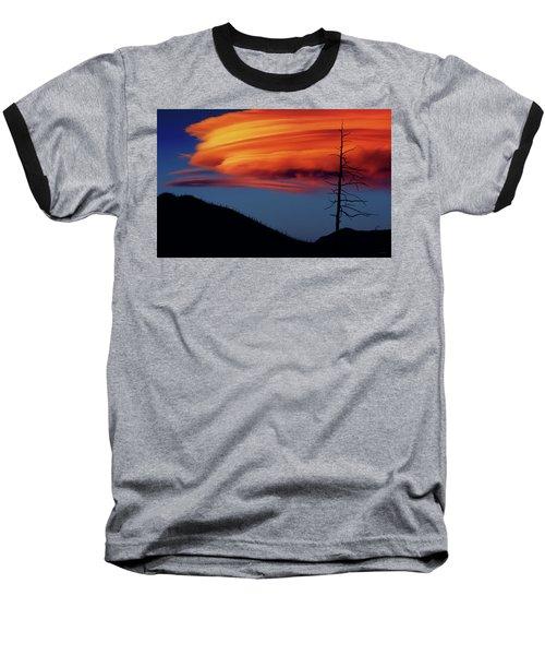 A Haunting Sunset Baseball T-Shirt