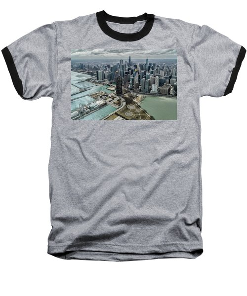 A Helicopter View Of Chicago's Lakefront Baseball T-Shirt