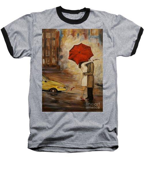 A Hello Kiss Baseball T-Shirt by Leslie Allen