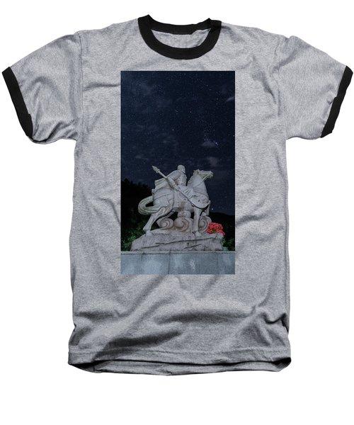 A Hero's Starscape Baseball T-Shirt