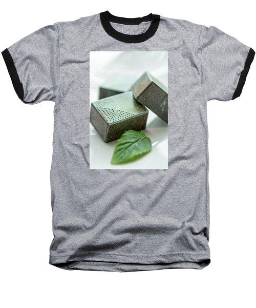 A Hint Of Mint Baseball T-Shirt by Sabine Edrissi