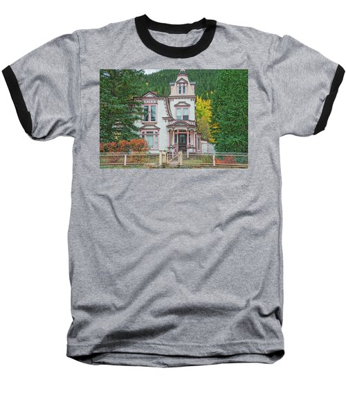 A Historical Treasure Constructed In 1870, Maxwell House, Georgetown, Colorado  Baseball T-Shirt