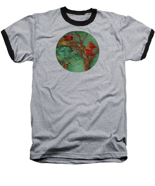 A Home In The Woods Baseball T-Shirt by Mary Wolf