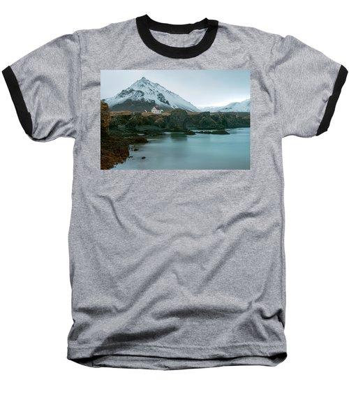 Baseball T-Shirt featuring the photograph A House Near Snaefellsjokull Mountain, Iceland by Dubi Roman