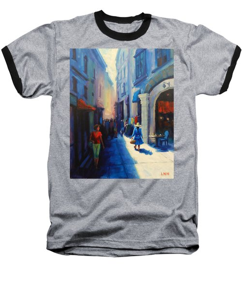 A Lady From Cajamarca In The City, Peru Impression Baseball T-Shirt